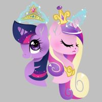 Twilight and cadence by Princess-Ni-Ni