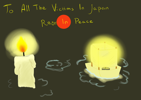 For the victims in Japan by Chibeliboo