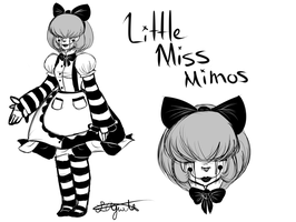New OC - Little Miss Mimos by CrystalCobwebs