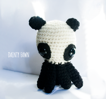 Panda Bear Octopus Amigurumi by tiny-moon