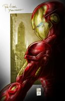IRONMAN digital color by Vinz-el-Tabanas