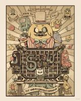Adventure Time Showtime Poster by makosaur