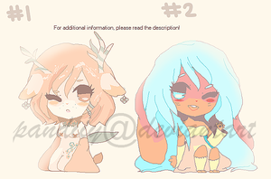 1 and 2 auction adoptables by pandiiy