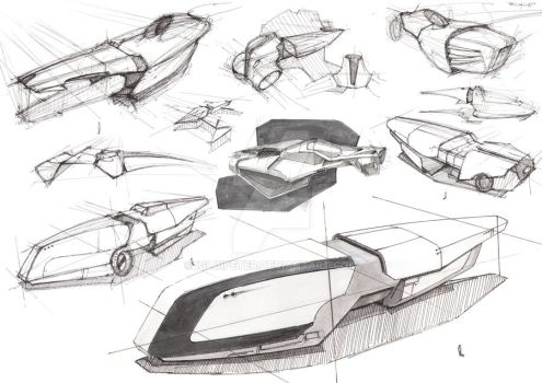 Spaceship Sketches by igloipeter