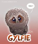 Gylfie the little owl by Dragibuz
