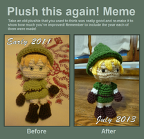 Plush this again! Meme by crocheter