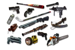 All weapons in the game ObsCure 2 by darkcapilla