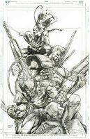 nightcrawler, deadpool, cable wolverine by Dinobots
