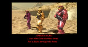 Red vs blue Sarge's Song by Dustiniz117