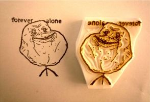 forever alone stamp by mukuuji