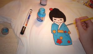 Kokeshi shirt by mew-ninjin
