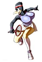 Busty bird...tennis by chochi