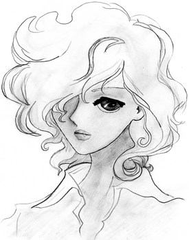 Girl wi curly hair by franbo