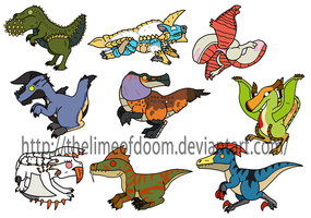 Monster hunter chibis 2 by thelimeofdoom