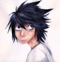 L from death note by FluffySquirrel
