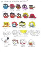 DC Comics Characters Angry Birds by AimiisLoveBeautiful
