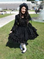 Gothic lolita dress. by mory-chan