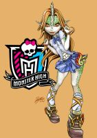 Monster High oc Hana Ten'i School Uniform by skyshek