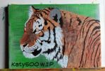 Tiger painting WIP by Katy500