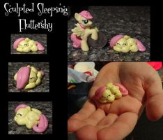 Sleeping Fluttershy -sculpted by stripeybelly