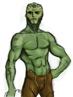 Sketch: Thane Krios by north-green