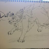 Cunine (Pokemon Fusion) Personal OC 'Doodle' by Shy-Storm