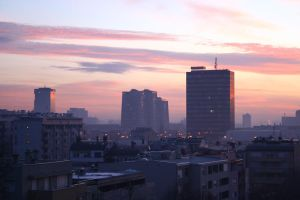 Zagreb morning by rafinerija