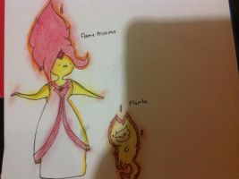 Flame princess and flambo drawing by Ilovepuppys0417