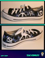 Panda shoe commission by ZacSkellington
