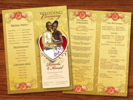 my friend wedding program by owdesigns