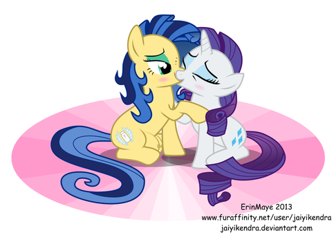 Rarity And Milky Kisses By Erinmaye by NeysaNight