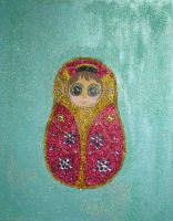Emma's Russian Doll Painting by blackrose1959