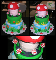 Sr. Project: Super Mario Cake by LockpickDsay