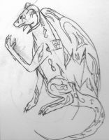 Mind-Control Dragon Sketch by ShattenWolf