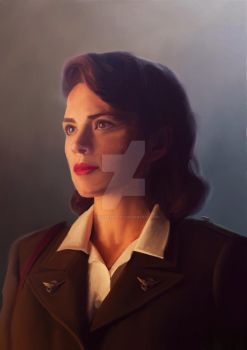 AGENT MARGARET 'PEGGY' CARTER by JaggysnakeArt