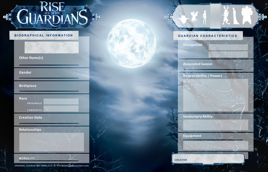 Character Sheet Template - ROTG by Cuine