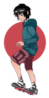 Hiro and his hoverboard by sibandit