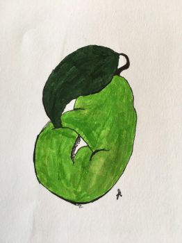 Om Nom Pear by Graphite-Graveyard