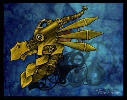 Steampunk dragon by Fyrrea