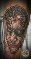 Joker Roulette lettering 1.ses by 2Face-Tattoo