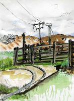 Sheep Pens Optic Duct Telegraph Poles by merearthling