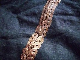 Egyptian Coil Bracelet Upclose by Noellisty