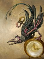 Clockwork Crow by cursed-sight