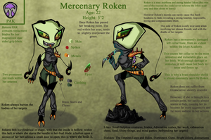 Mercenary Roken - Bio Reference by xSharonthehedgehogx