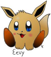 Eevy with color by Evomanaphy