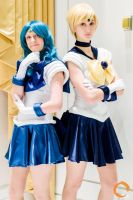 Sailor Uranus and Sailor Neptune by Mizukei