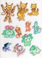 Pokemon keychains by NynjaKat
