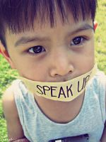 speak up? by twinphotography