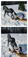 Breyer - Sledding by The-Toy-Chest