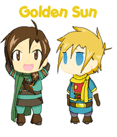 Felix and Isaac Chibis xD by Sally78